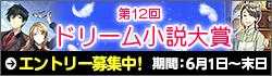 第12回ドリーム小説大賞エントリー募集中